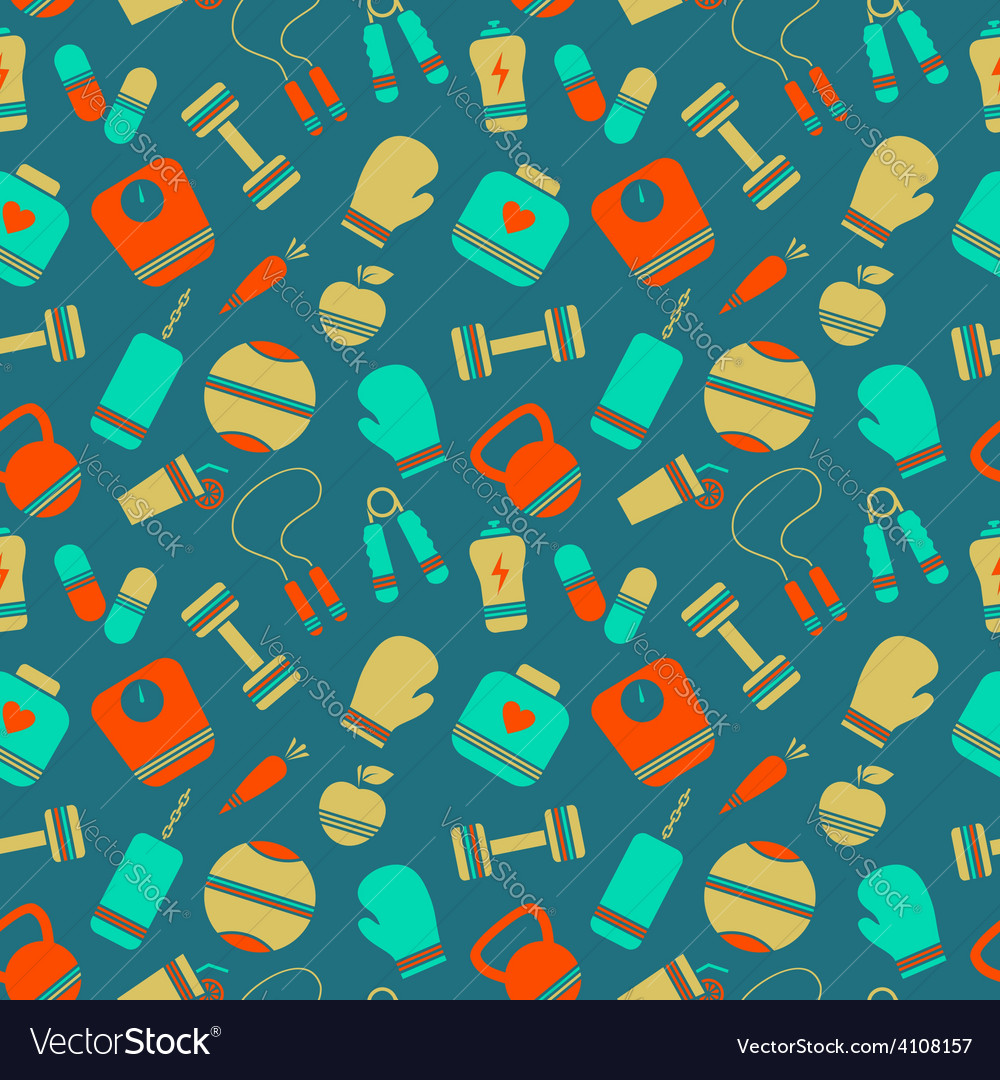 Sports pattern vector | Price: 1 Credit (USD $1)