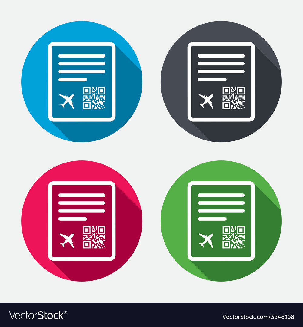 Boarding pass flight sign icon airport ticket vector | Price: 1 Credit (USD $1)