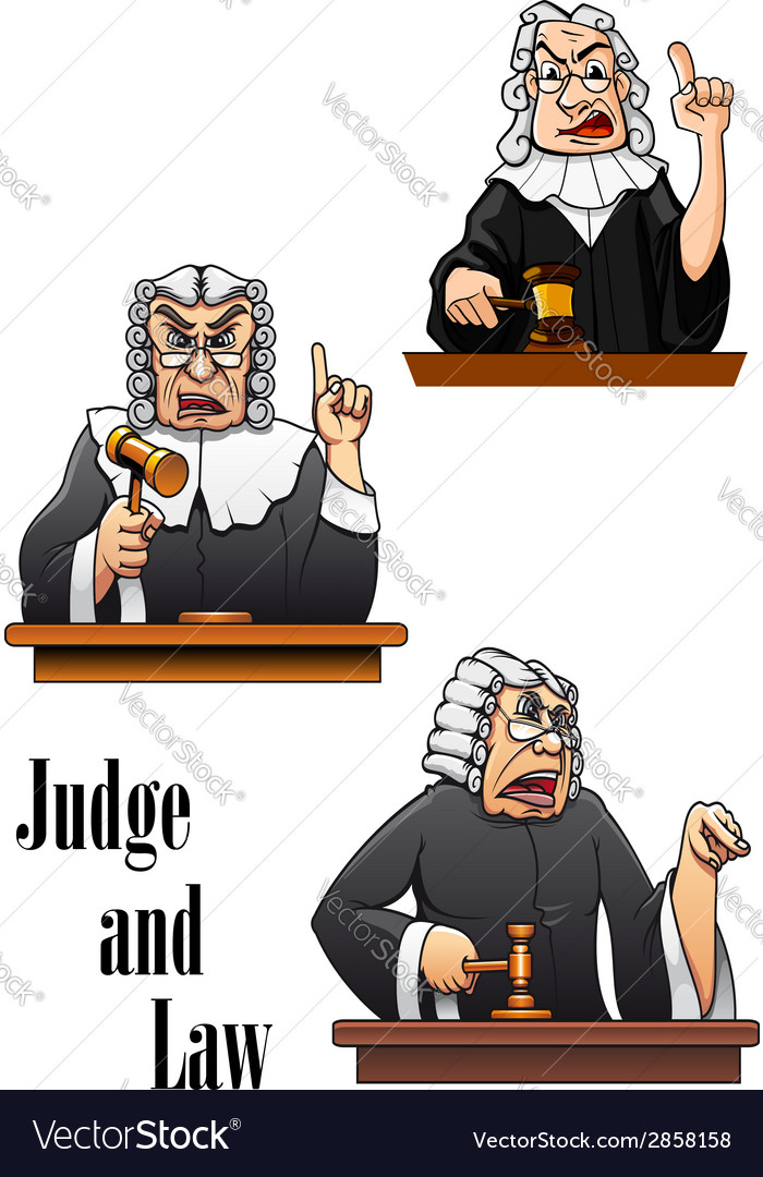 Cartoon judge characters vector | Price: 1 Credit (USD $1)