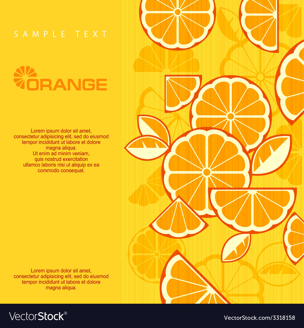 Citrus fruit slices vector | Price: 1 Credit (USD $1)
