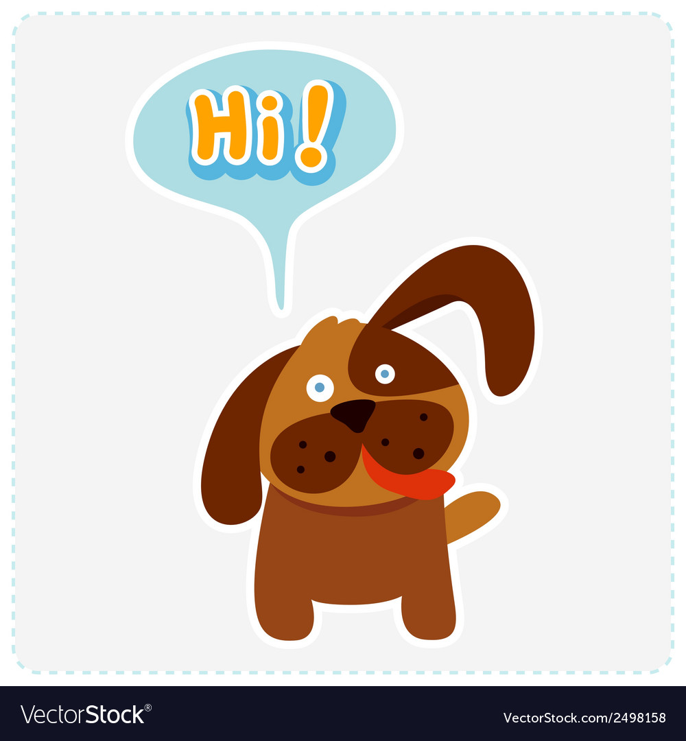 Cute cartoon dog and a speaking bubble vector | Price: 1 Credit (USD $1)