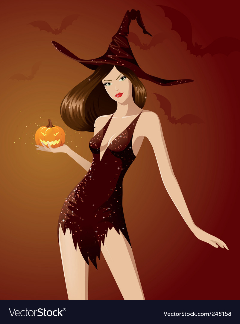 Halloween witch vector | Price: 5 Credit (USD $5)