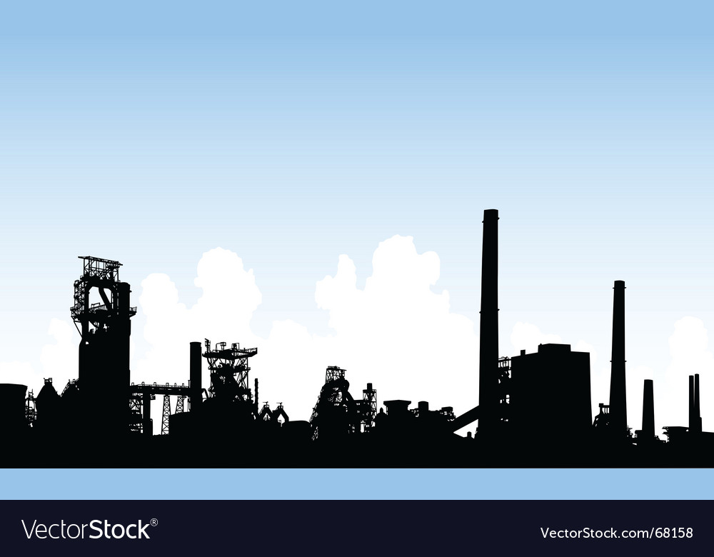 Industrial skyline vector | Price: 1 Credit (USD $1)