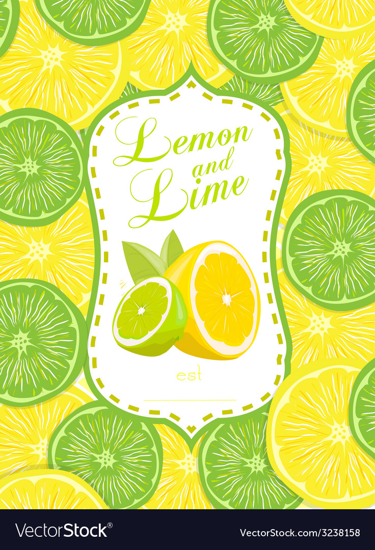 Lemon and lime vector | Price: 1 Credit (USD $1)