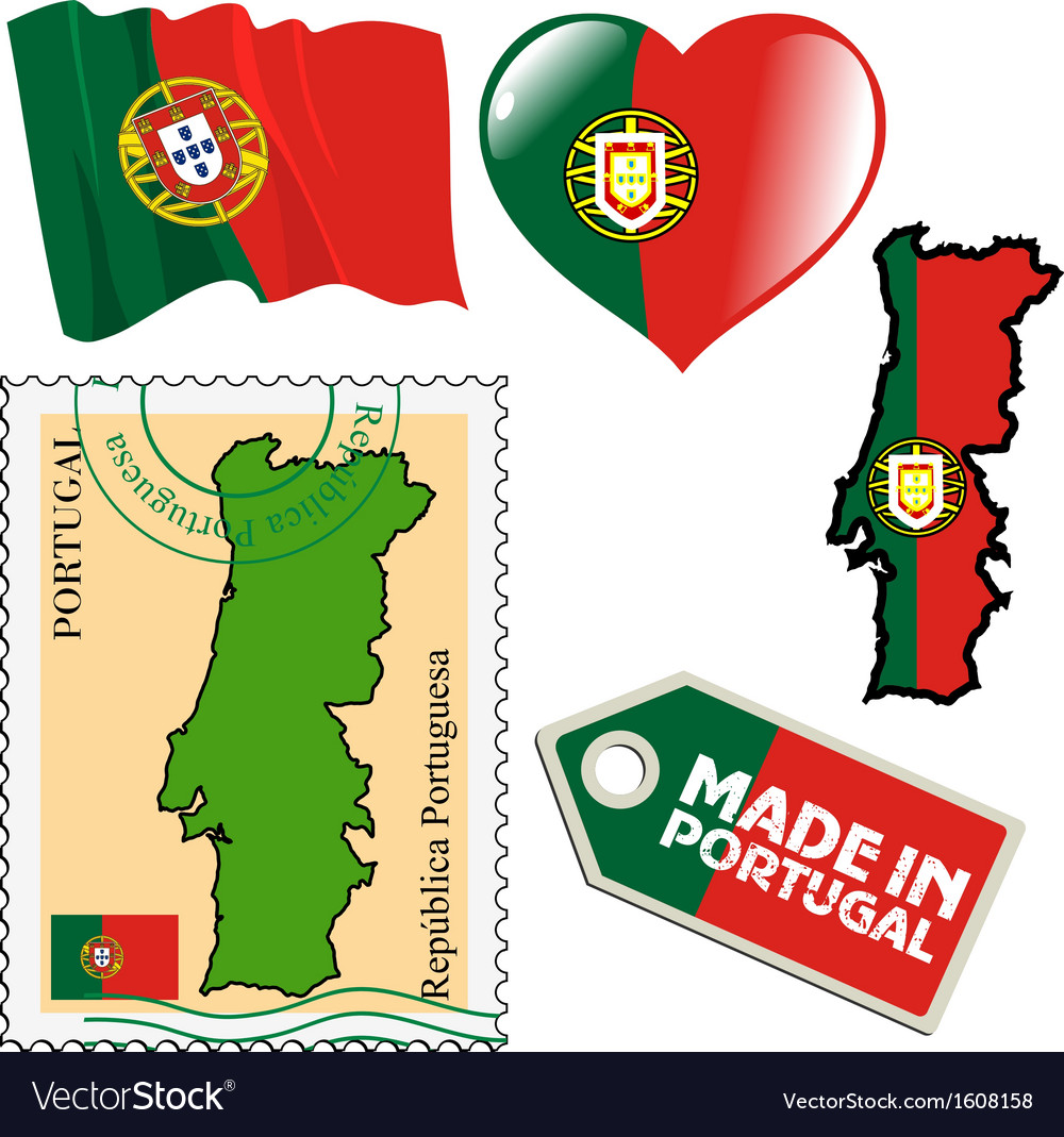 National colours of portugal vector | Price: 1 Credit (USD $1)