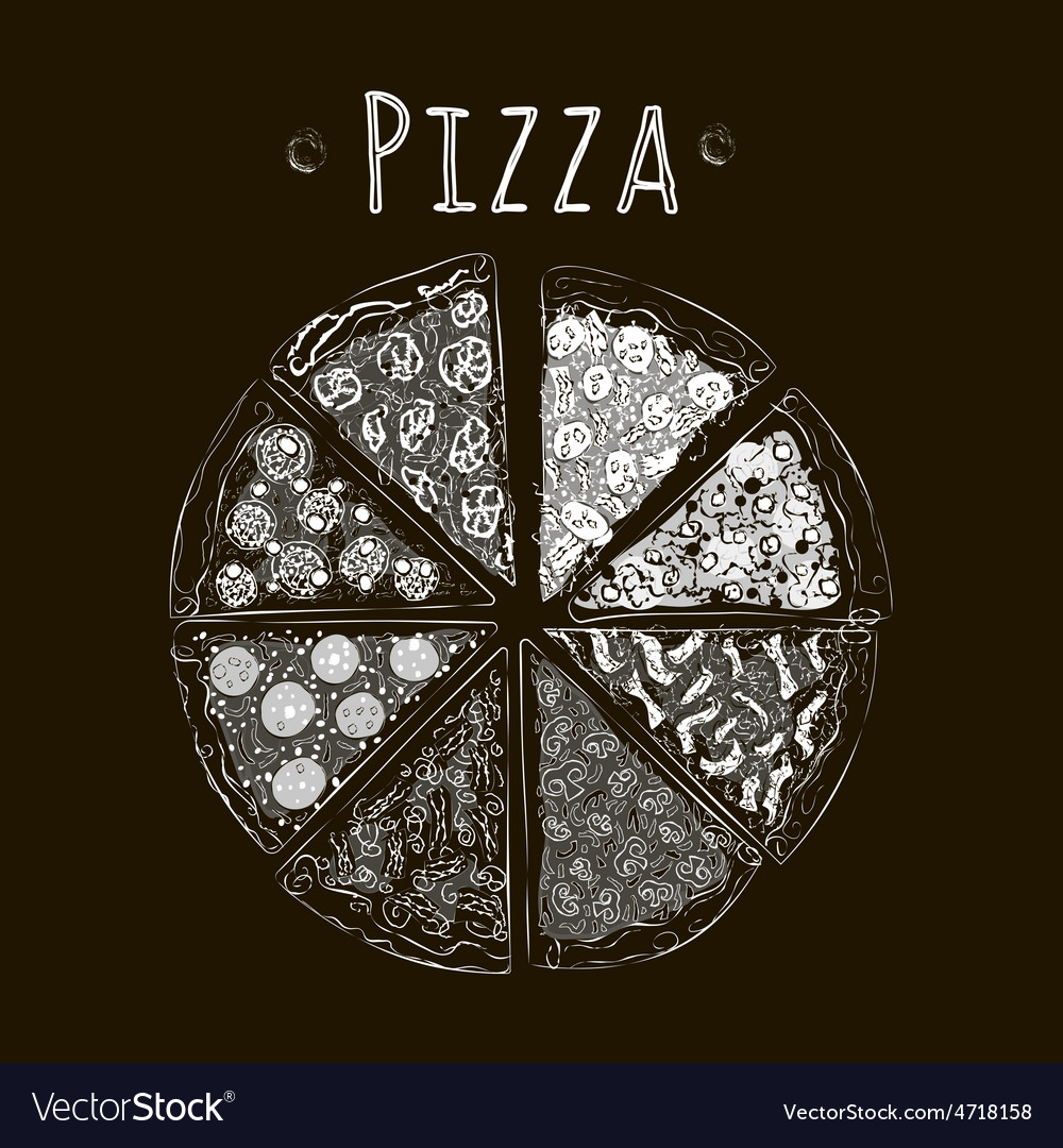 Pizza bw blackfon vector   Price: 1 Credit (USD $1)