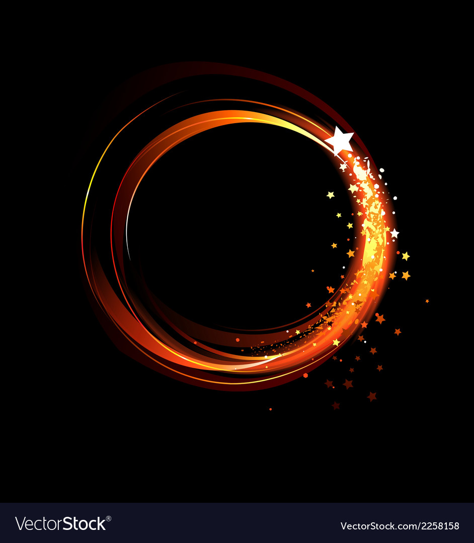 Round fiery banner vector | Price: 1 Credit (USD $1)