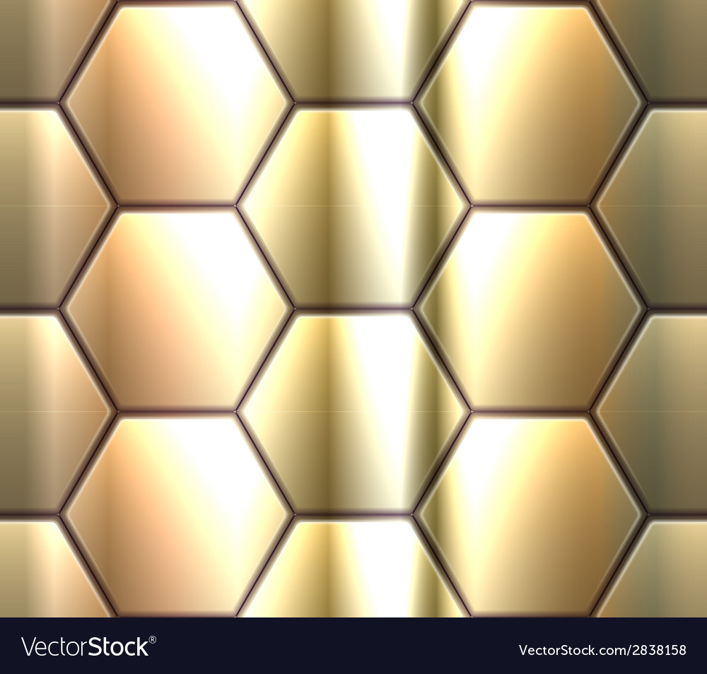 Seamless pattern with metallic hexahedron puzzles vector | Price: 1 Credit (USD $1)