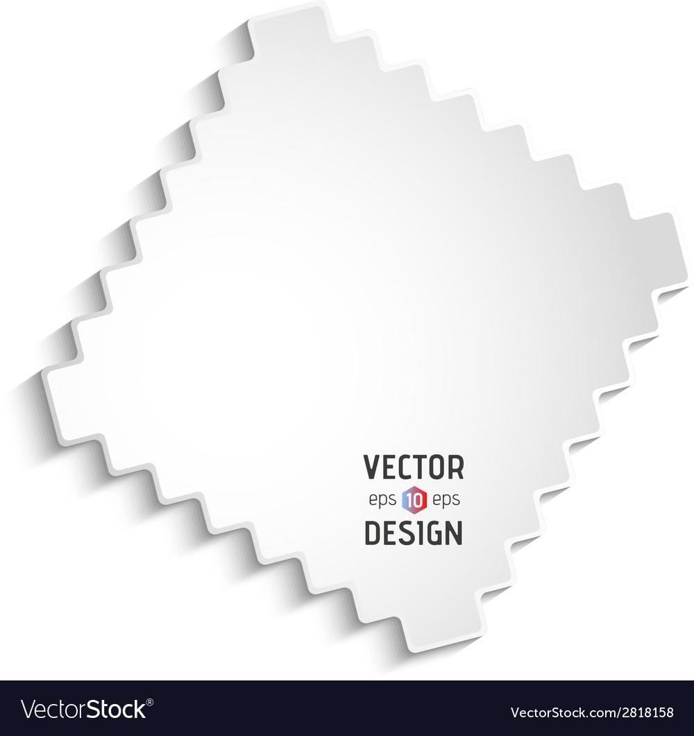 White zigzag frame vector   Price: 1 Credit (USD $1)