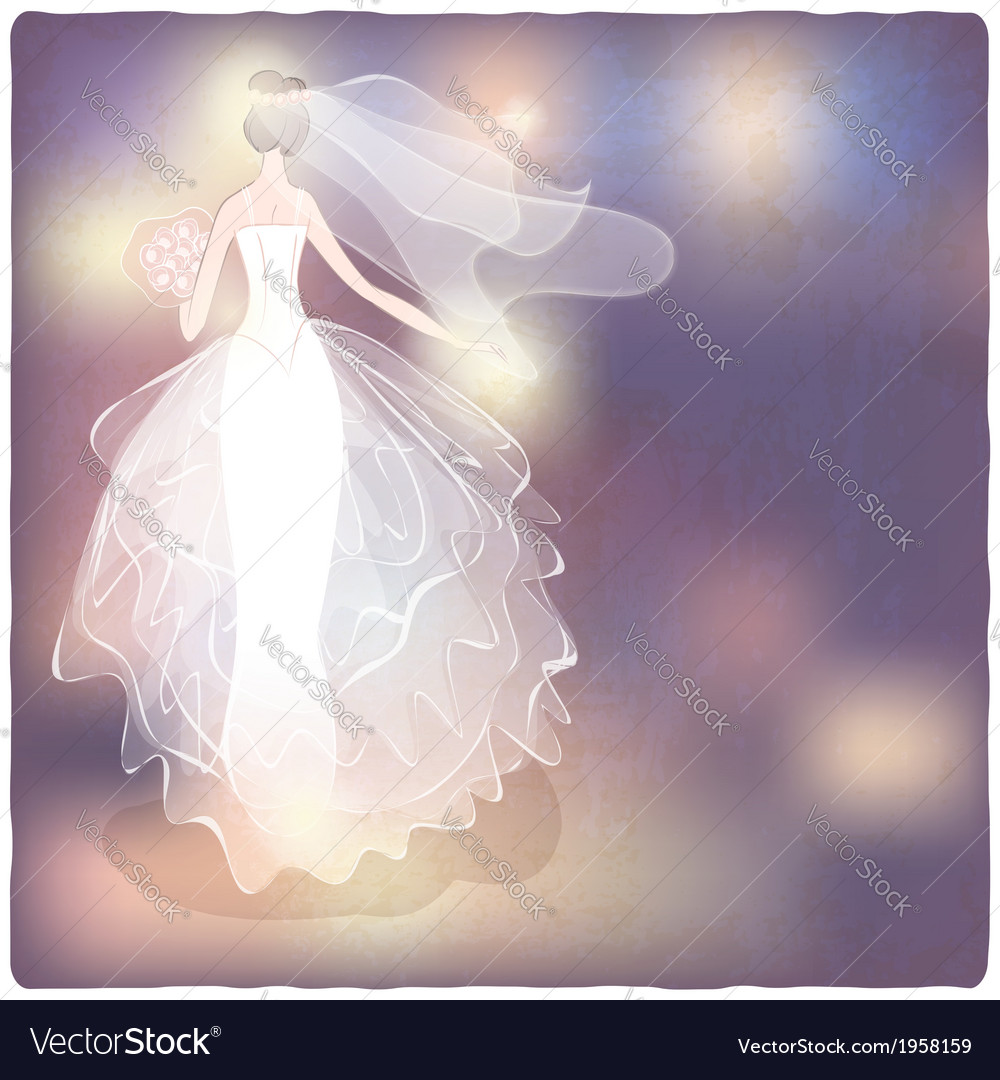 Bride on blurred background vector | Price: 1 Credit (USD $1)