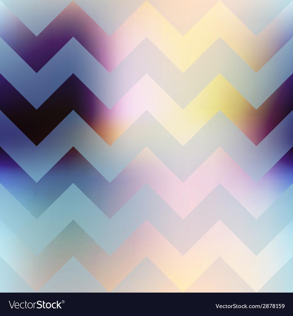 Chevron pattern on blur background vector