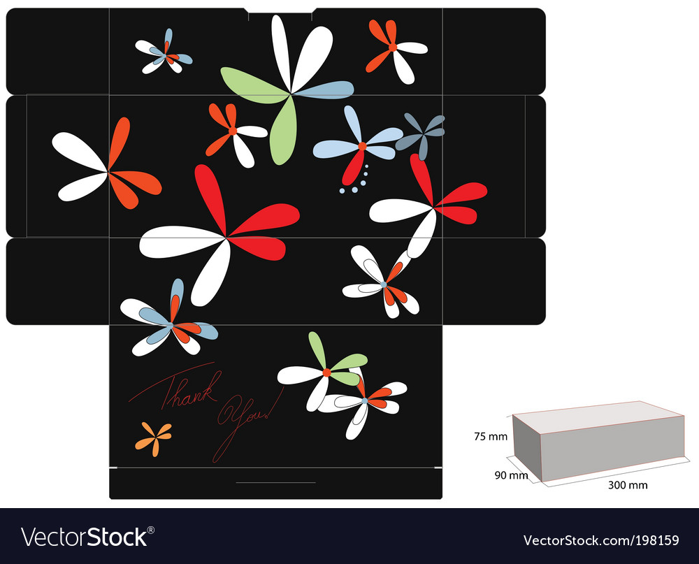 Decorative box template vector | Price: 1 Credit (USD $1)