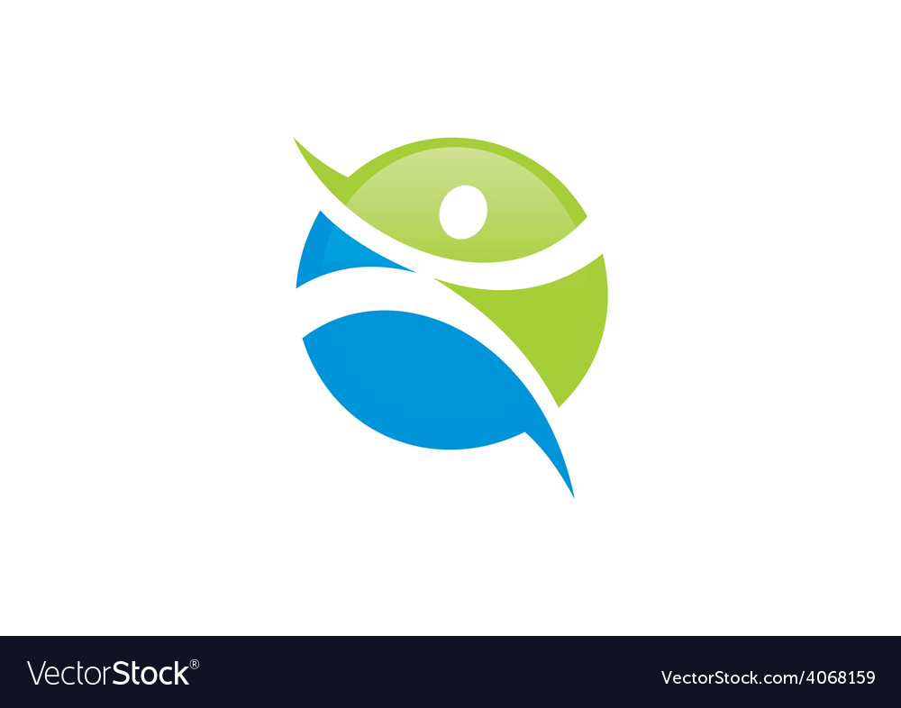 Fitness people sport icon logo vector | Price: 1 Credit (USD $1)