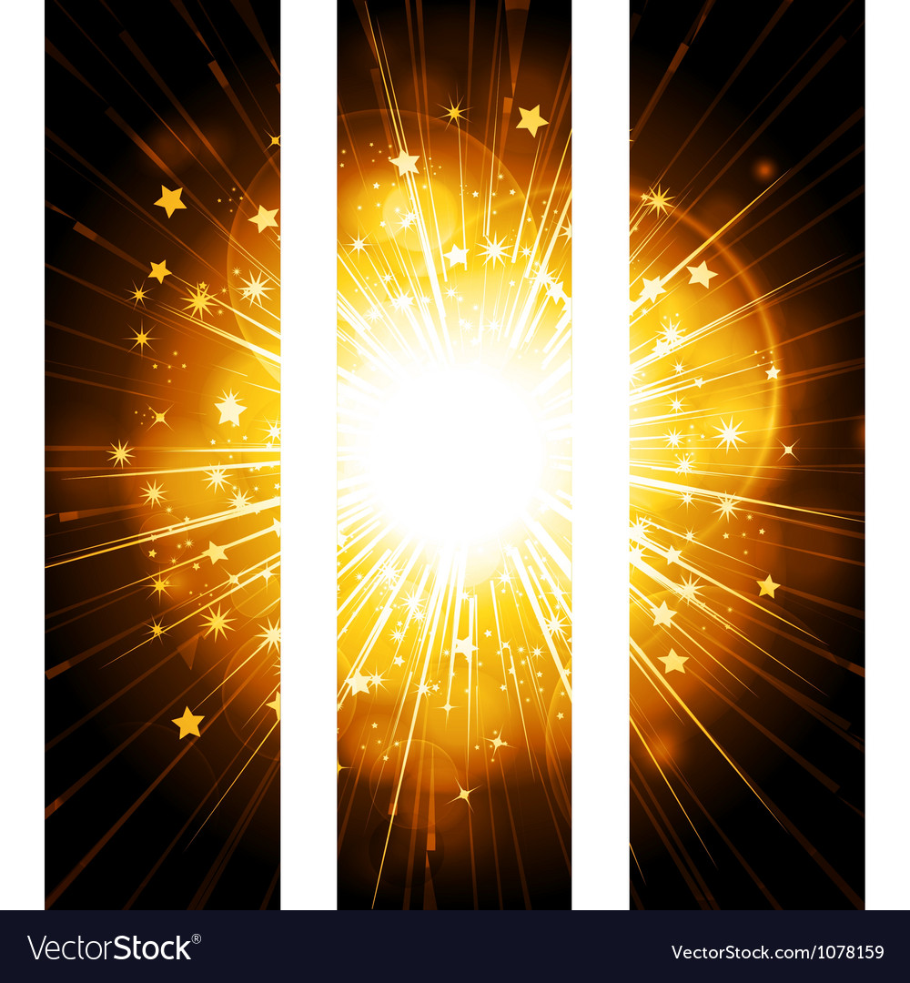 Glowing stars banner background vector   Price: 1 Credit (USD $1)
