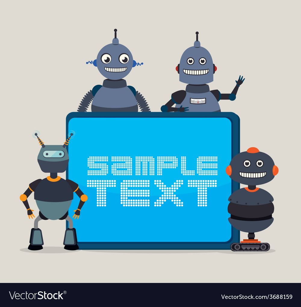 Robot design over white background vector   Price: 1 Credit (USD $1)