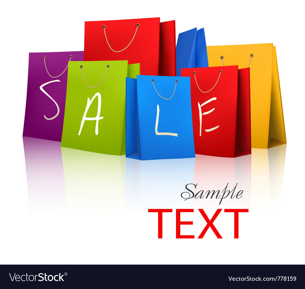 Sale shopping bags vector | Price: 1 Credit (USD $1)