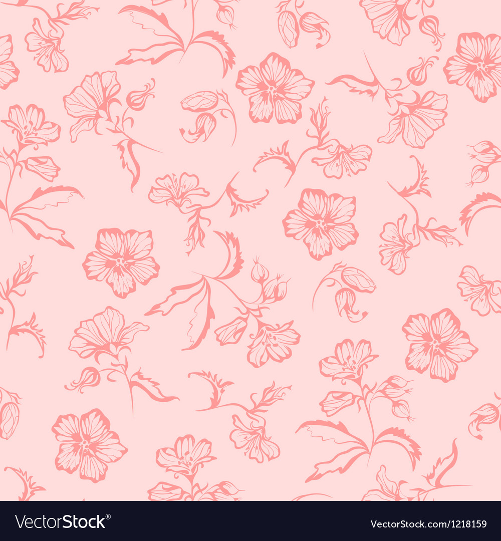 Seamless summer floral pattern vector | Price: 1 Credit (USD $1)