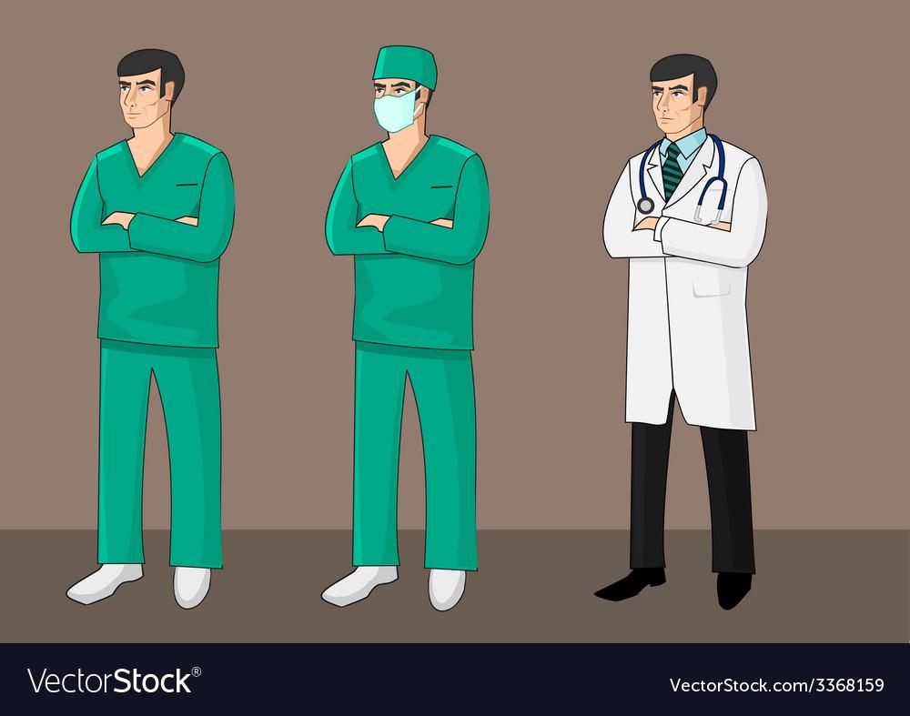 Three doctors vector | Price: 1 Credit (USD $1)