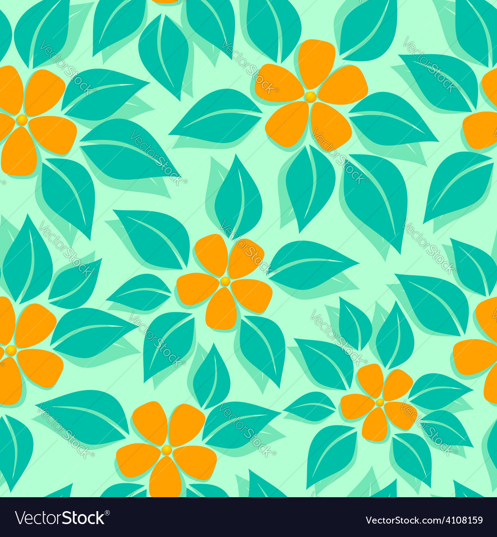 Tropical pattern orange vector | Price: 1 Credit (USD $1)