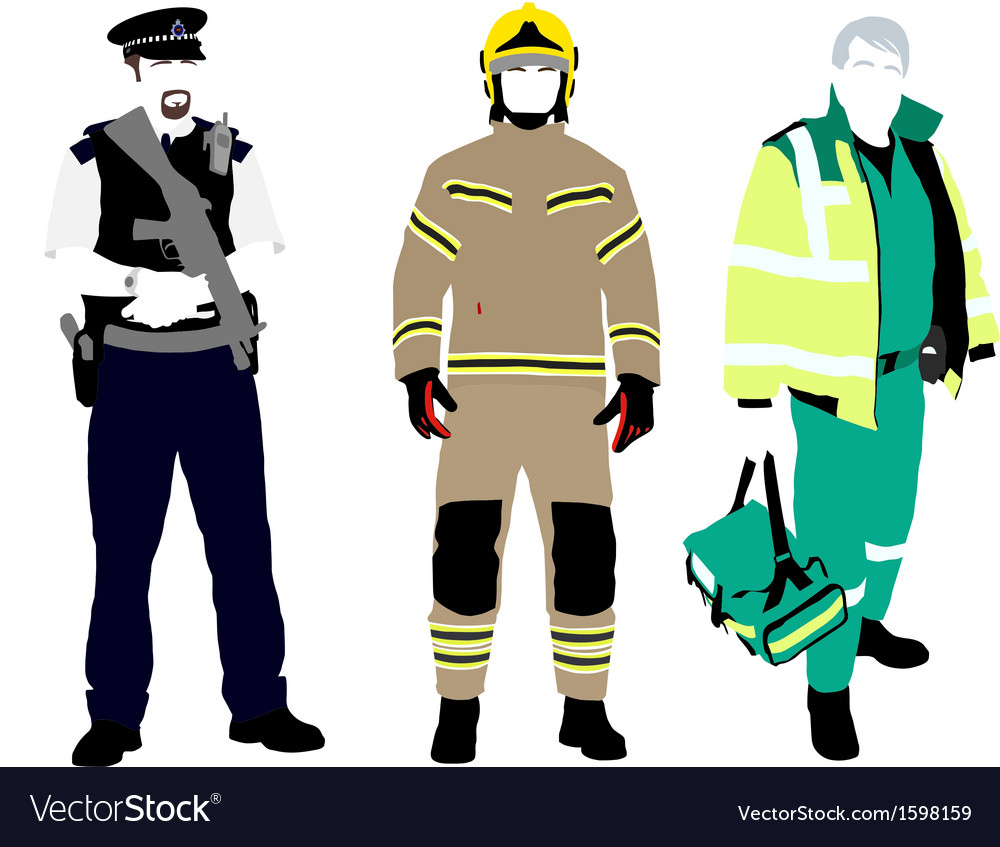 Uk emergency services vector | Price: 1 Credit (USD $1)