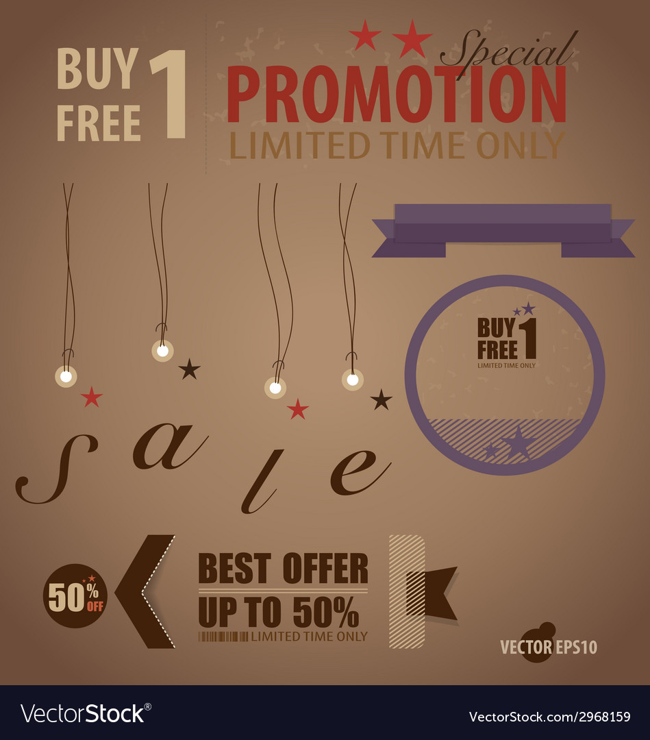 Word for price tag sale coupon voucher vector | Price: 1 Credit (USD $1)