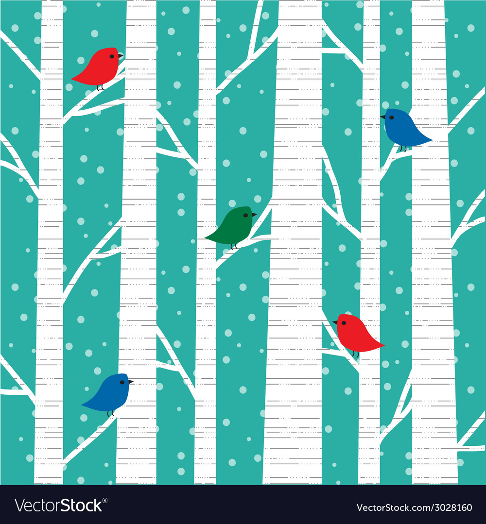 Birch trees vector | Price: 1 Credit (USD $1)