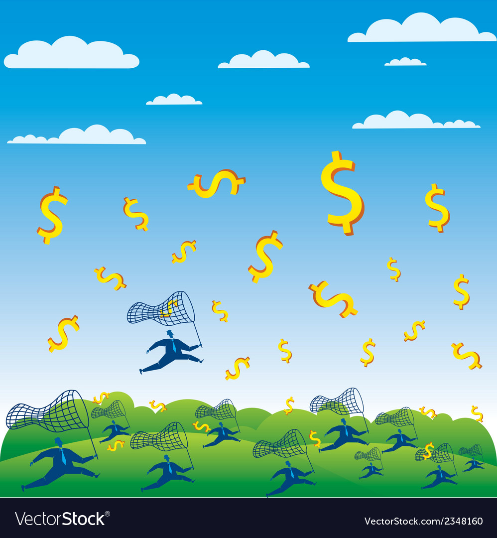 Catch the money concept vector | Price: 1 Credit (USD $1)