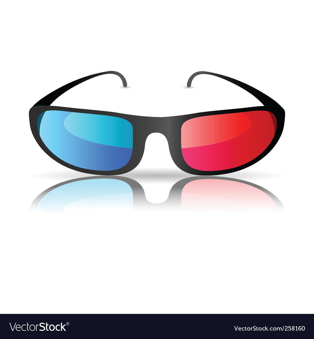 Cinema glasses vector | Price: 1 Credit (USD $1)