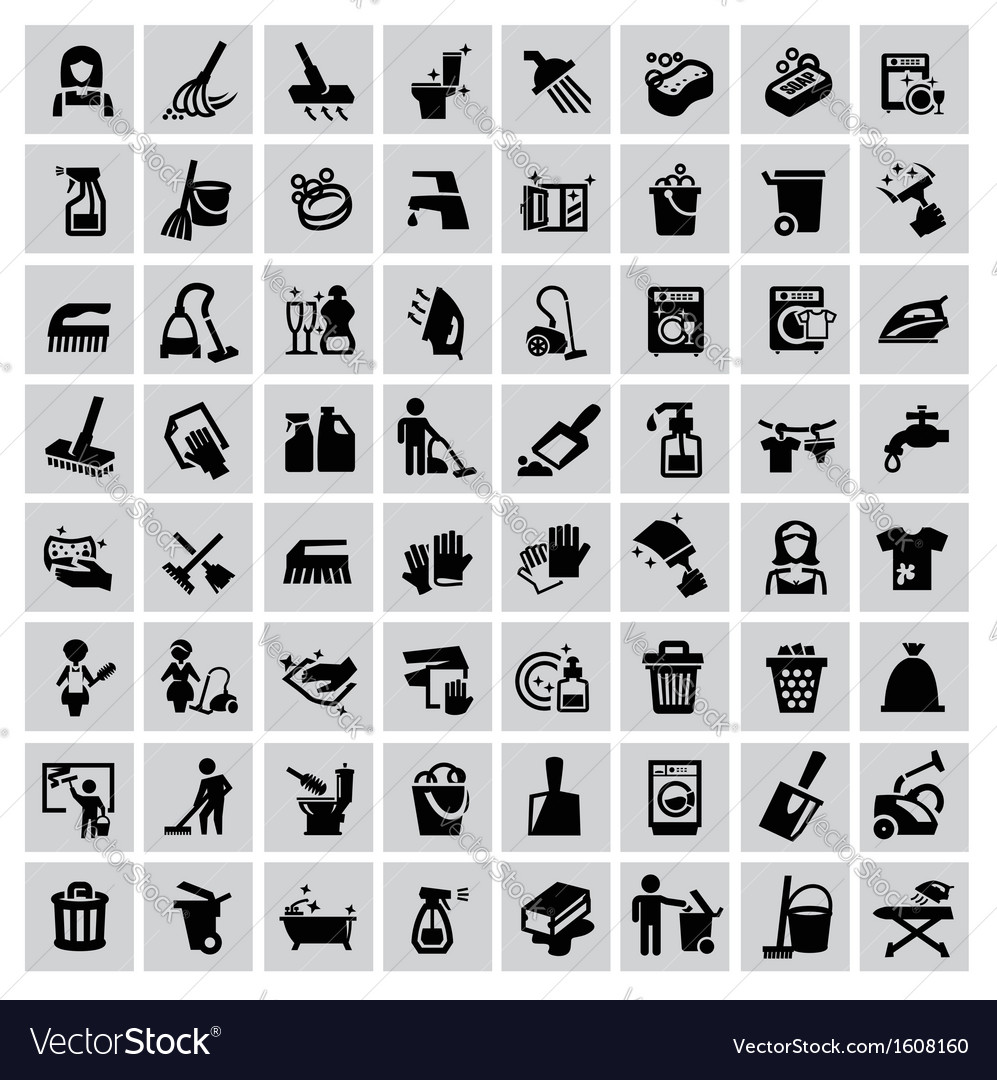 Cleaning icons vector | Price: 1 Credit (USD $1)
