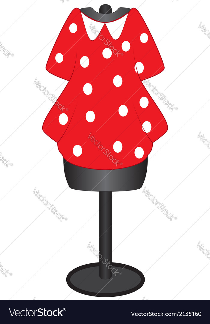 Dress on a mannequin for sewing vector | Price: 1 Credit (USD $1)