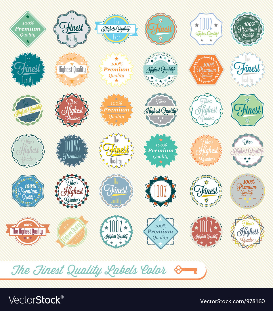 Finest quality labels color vector | Price: 1 Credit (USD $1)