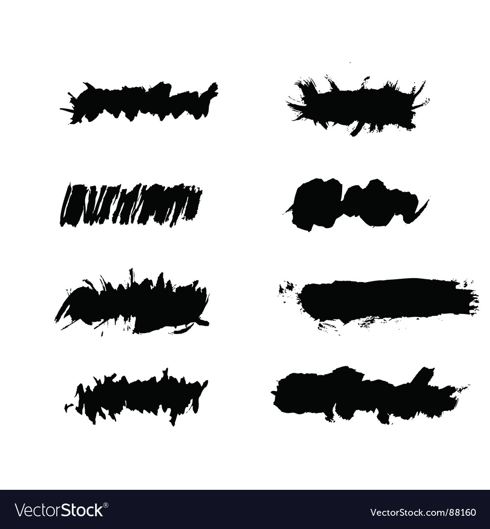 Grunge ink splat brush vector | Price: 1 Credit (USD $1)