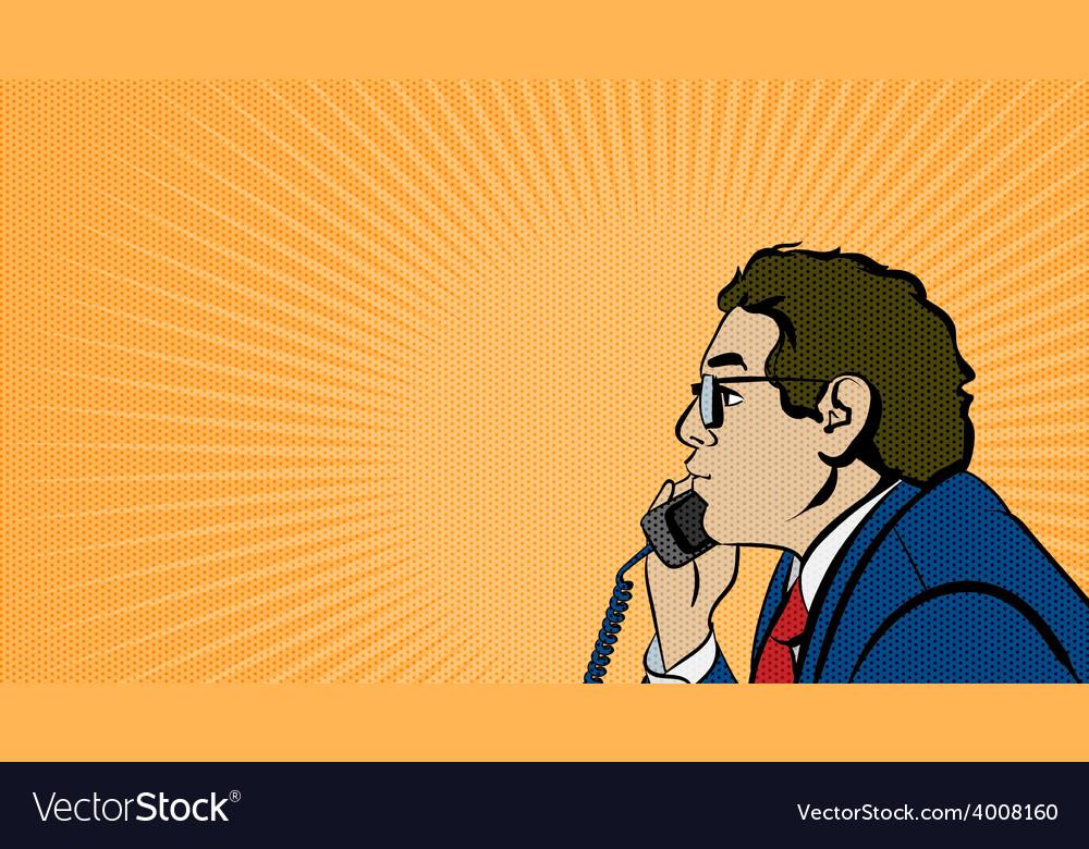 Pop art comics man stock vector | Price: 1 Credit (USD $1)