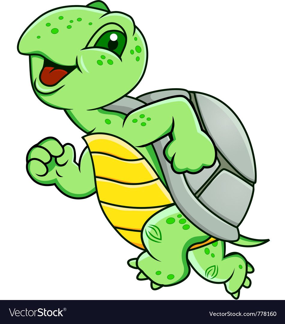 Running turtle vector | Price: 1 Credit (USD $1)