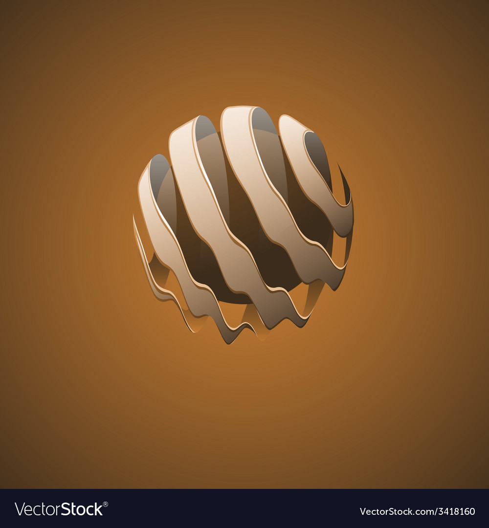 Spiral sphere abstract lines vector | Price: 1 Credit (USD $1)