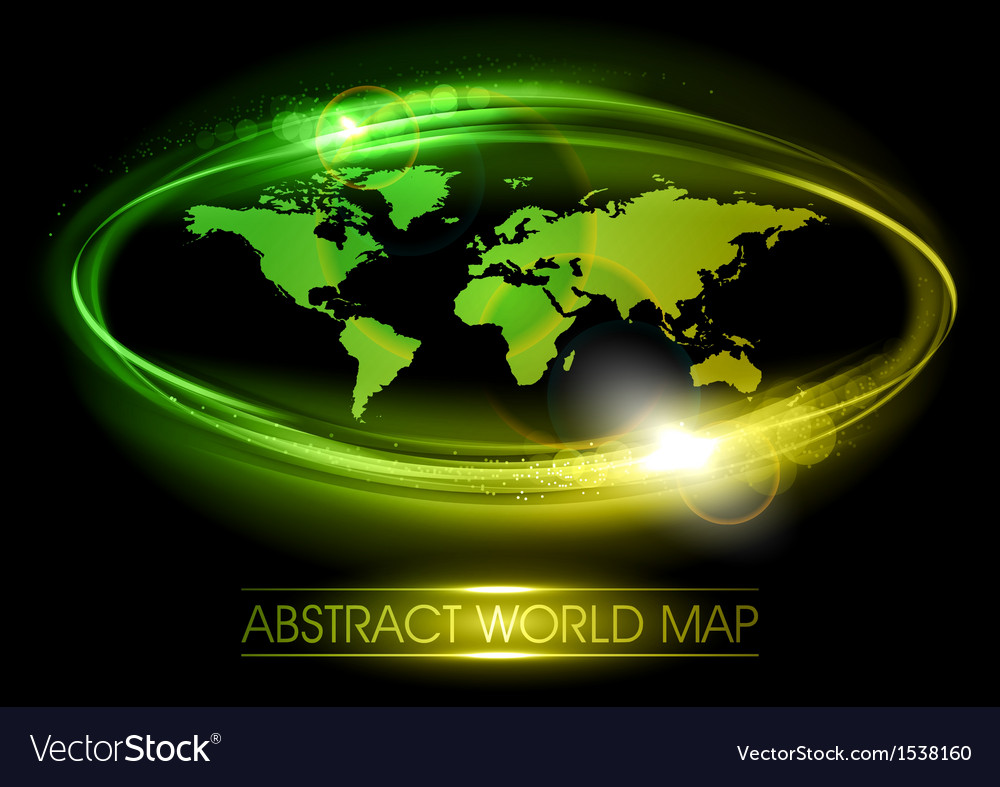 World abstract shine green vector | Price: 1 Credit (USD $1)
