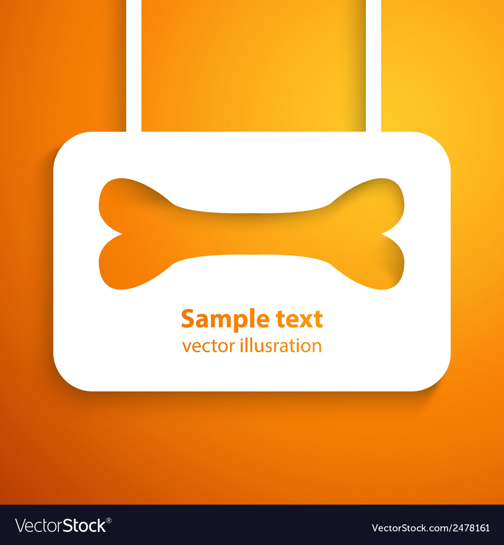 Applique bone icon frame for happy animal vector   Price: 1 Credit (USD $1)
