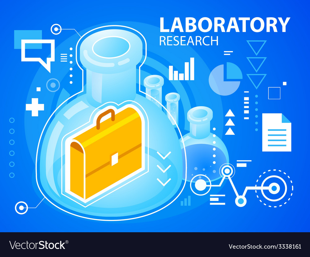 Bright laboratory research of work suitcase vector | Price: 3 Credit (USD $3)