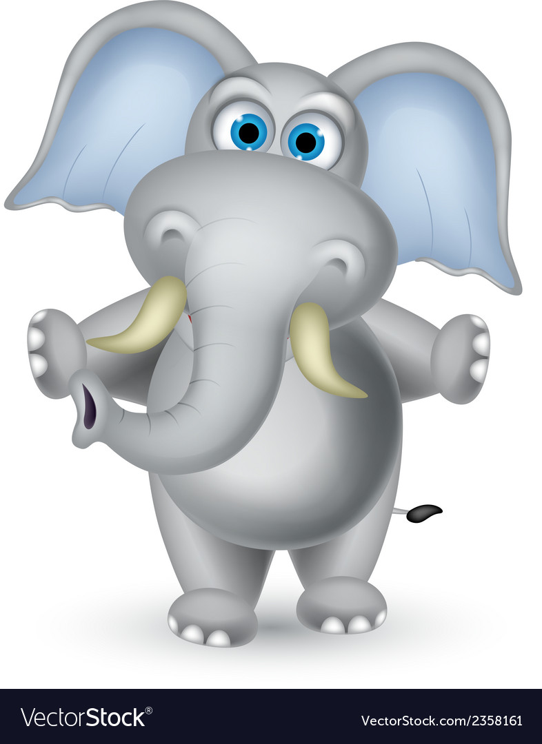 Elephant cartoon posing vector | Price: 1 Credit (USD $1)