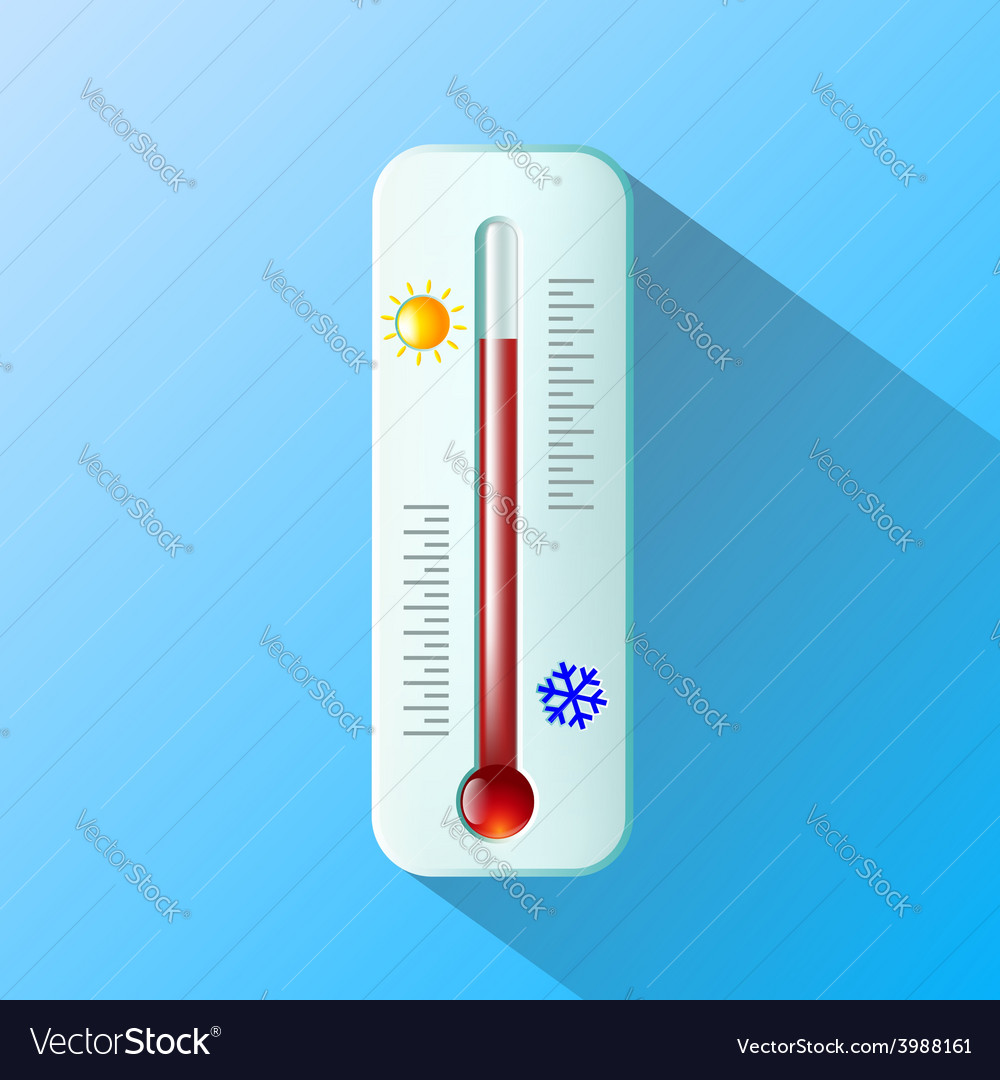 Thermometer flat design vector | Price: 1 Credit (USD $1)