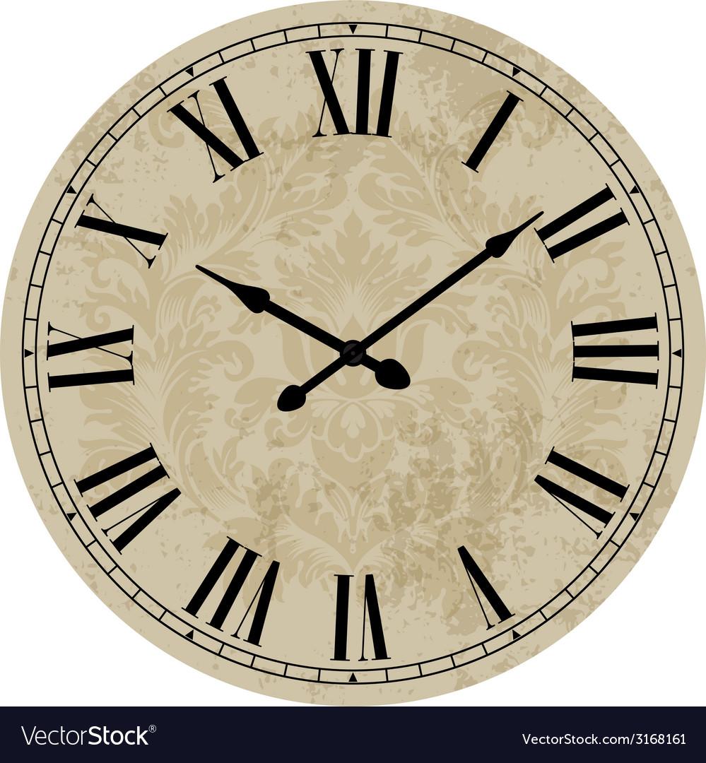 Old clock vector