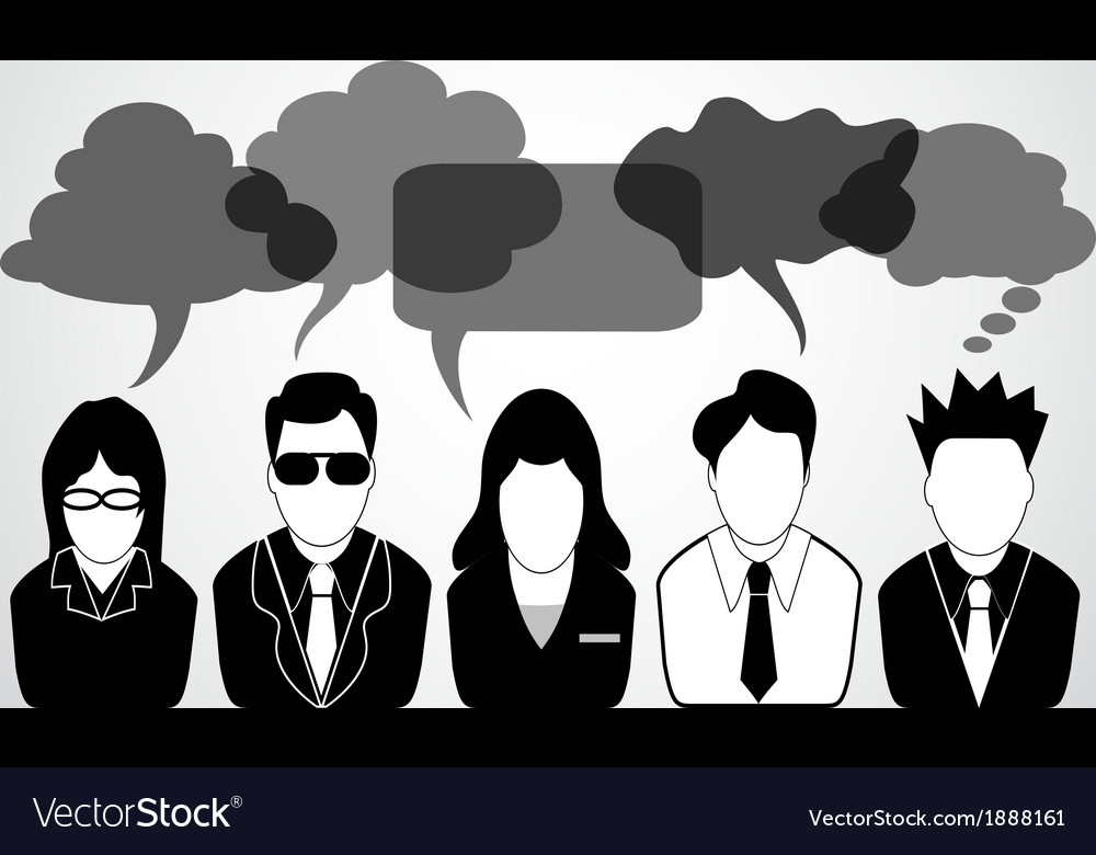 People communication with speech bubbles vector | Price: 1 Credit (USD $1)