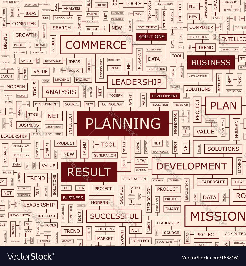 Planning vector | Price: 1 Credit (USD $1)