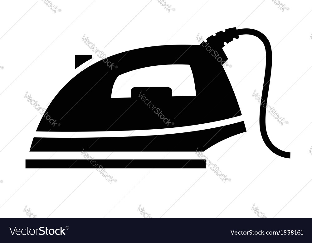 Steam iron icon vector | Price: 1 Credit (USD $1)