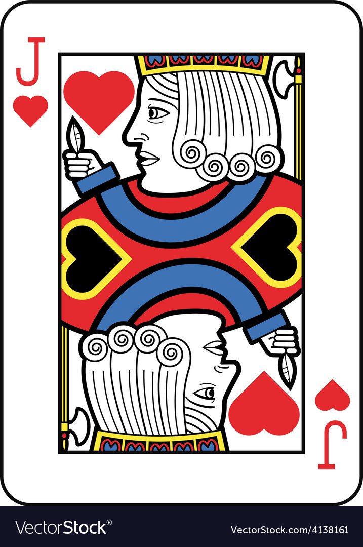 Stylized jack of hearts vector | Price: 1 Credit (USD $1)
