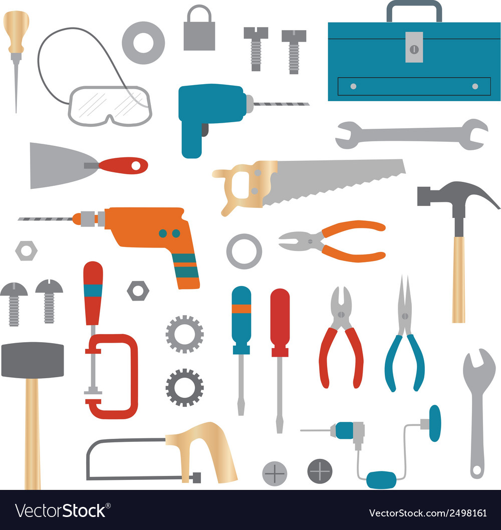 Tools clipart vector | Price: 1 Credit (USD $1)
