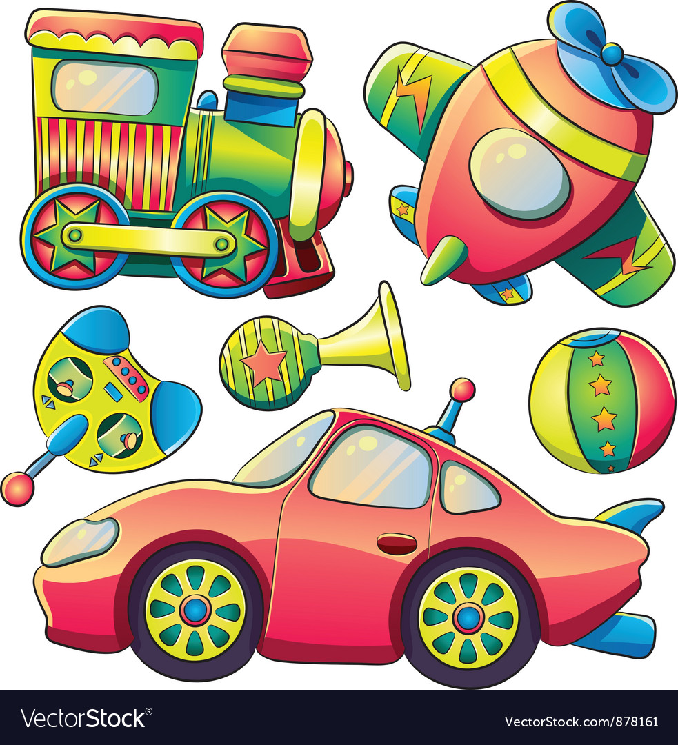 Transportation toys collection vector | Price: 5 Credit (USD $5)