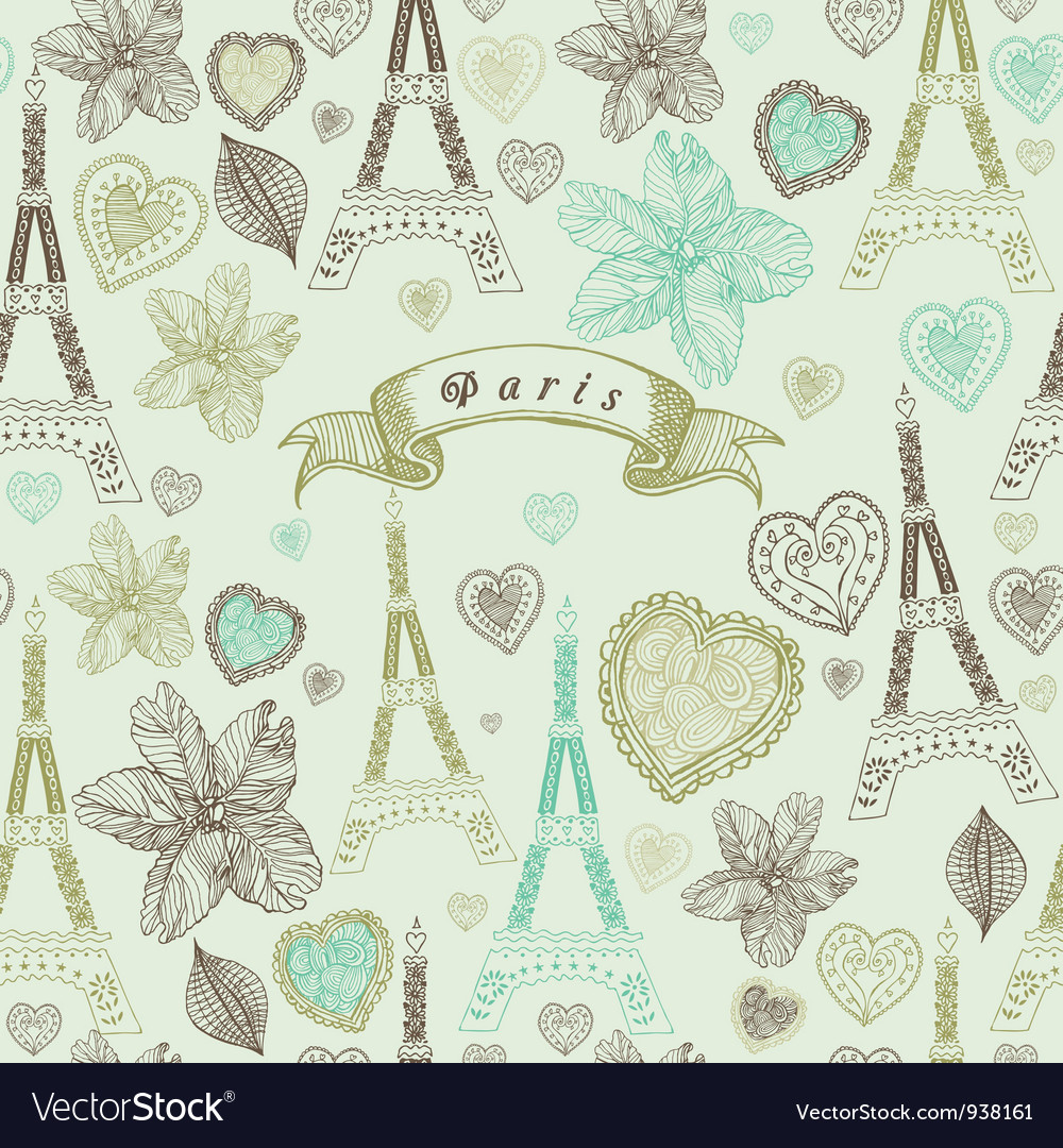 Vintage paris pattern vector | Price: 1 Credit (USD $1)