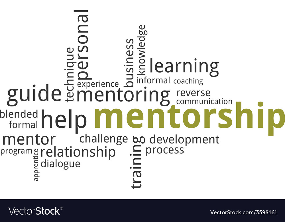 Word cloud mentorship vector | Price: 1 Credit (USD $1)