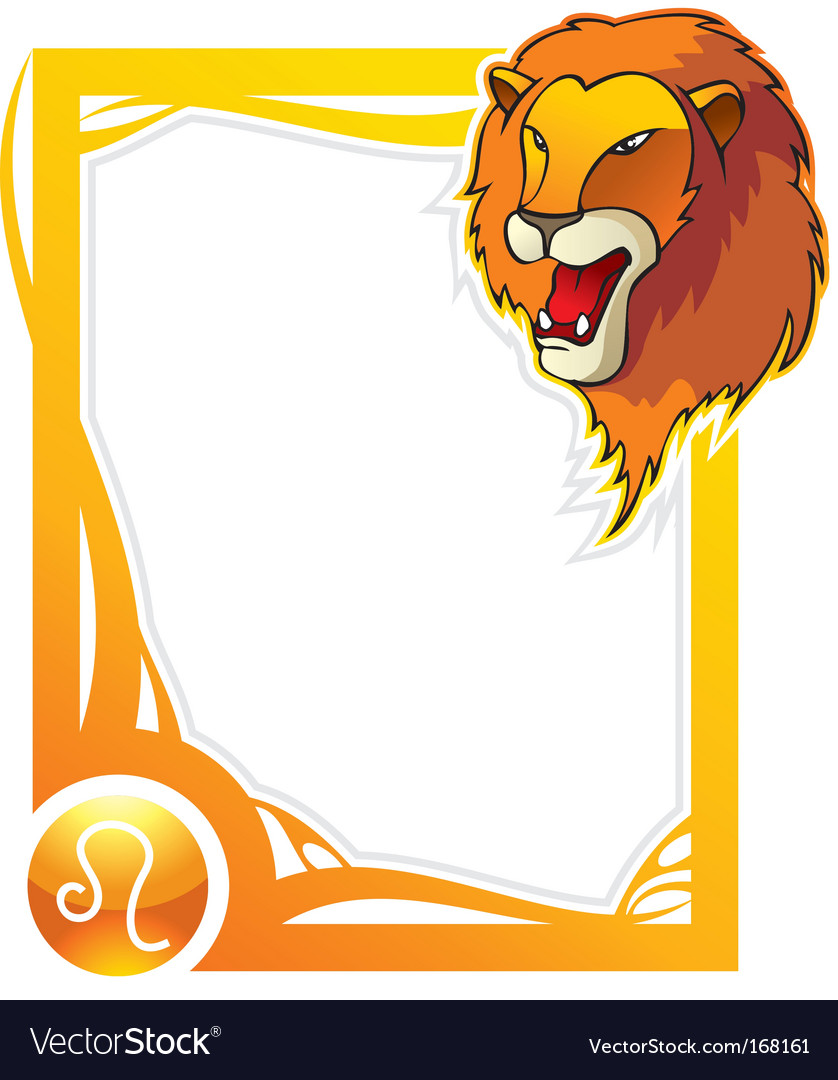 Zodiac frame series leo vector | Price: 1 Credit (USD $1)
